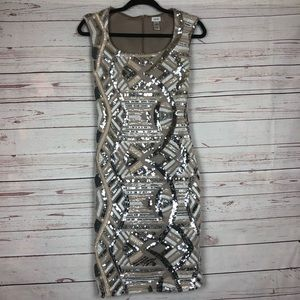Cache Sequin Bodycon Dress Size 0